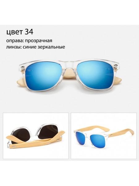 Солнцезащитные очки WAYFARER 34 (Вайфареры) с деревянными дужками