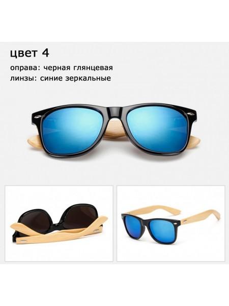 Солнцезащитные очки WAYFARER 4 (Вайфареры) с деревянными дужками
