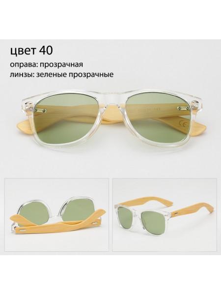 Солнцезащитные очки WAYFARER 40 (Вайфареры) с деревянными дужками