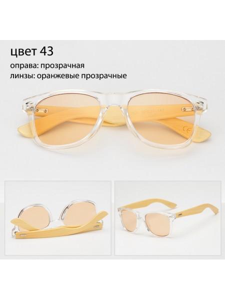 Солнцезащитные очки WAYFARER 43 (Вайфареры) с деревянными дужками
