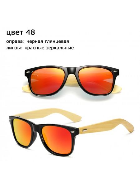 Солнцезащитные очки WAYFARER 48 (Вайфареры) с деревянными дужками