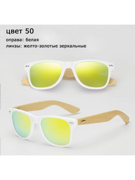 Солнцезащитные очки WAYFARER 50 (Вайфареры) с деревянными дужками