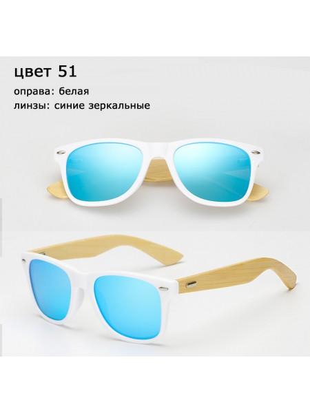 Солнцезащитные очки WAYFARER 51 (Вайфареры) с деревянными дужками