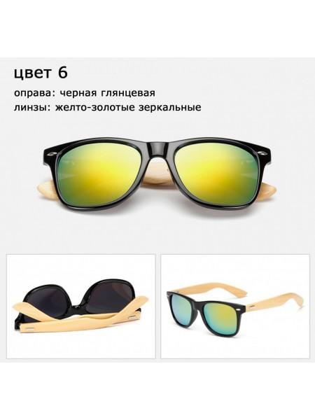 Солнцезащитные очки WAYFARER 6 (Вайфареры) с деревянными дужками