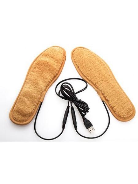 Теплые стельки для обуви с подогревом от usb (ЮСБ)